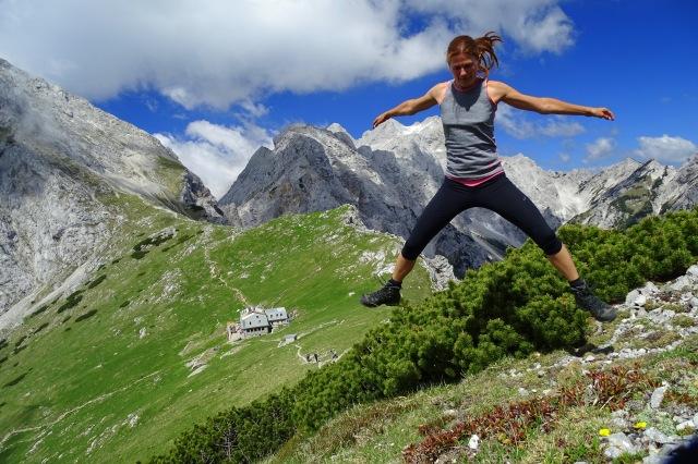 Kamniško Sedlo, the Kamnik-Savinja Alps, Slovenia hiking