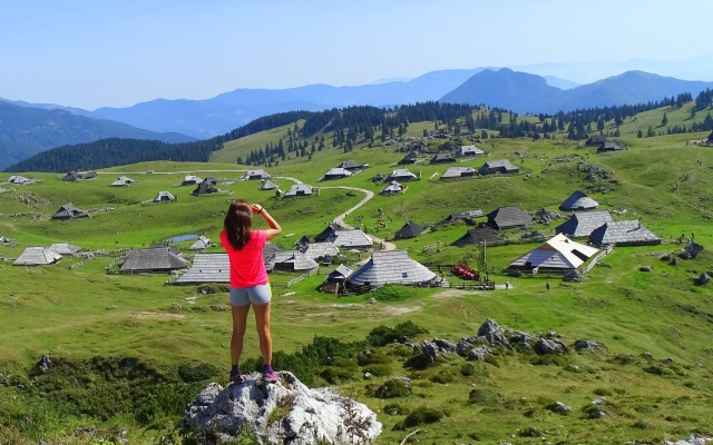 The old shepherds' settlement on Velika Planina, Central Slovenia