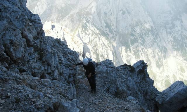 Hiking to Mt. Triglav on the Plemenice trail.