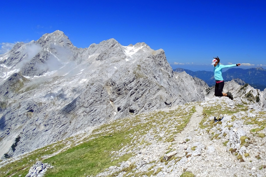At the top of Mt. Brana in the Kamnik-Savinja Alps