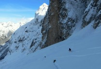 Backcountry skiing in one of the most beautiful parts of the Western Julian Alps
