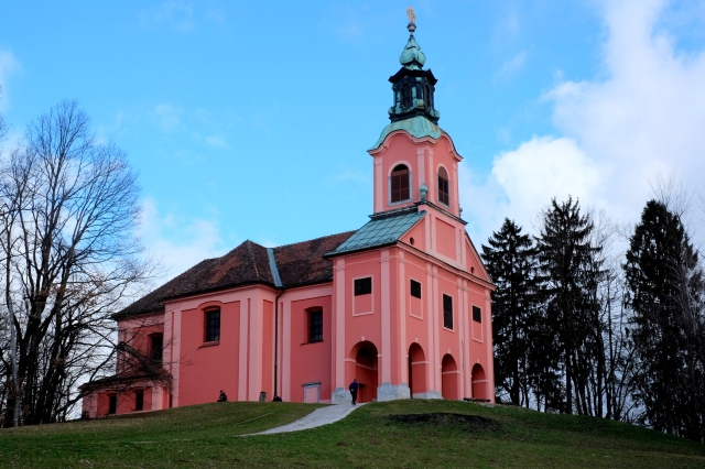 On Rožnik stands the Visitation Church and an inn where one of the best Slovenian writers, Ivan Cankar, lived between 1910 and 1917. Photo by: Exploring Slovenia.