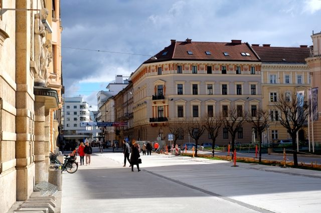 On the way from Tivoli to Prešeren Square. Photo by: Exploring Slovenia.