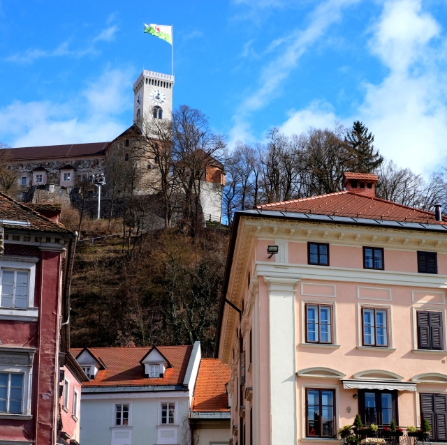 Originally a medieval fortress, Ljubljana Castle was probably built in the 11th century and rebuilt in the 12th century, but it wasn't until the 15th century that it acquired its present outline. Photo by: Exploring Slovenia.