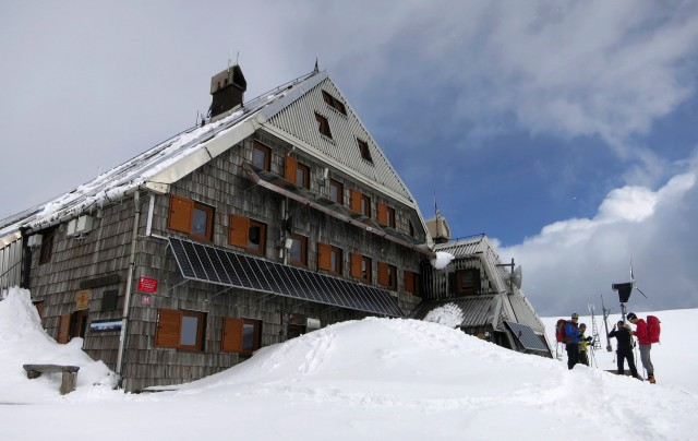The Triglav Lodge at Kredarica.