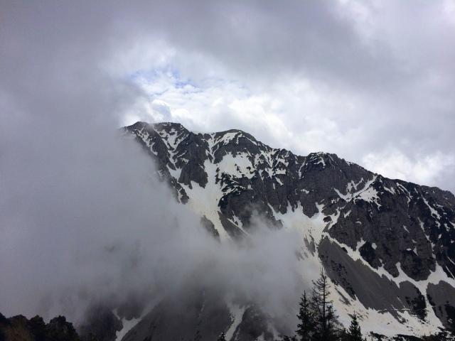 Mt. Begunjščica from Triangel, 1,704 m or 5,590 ft.