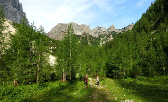 Climbing Triglav from the Krma valley