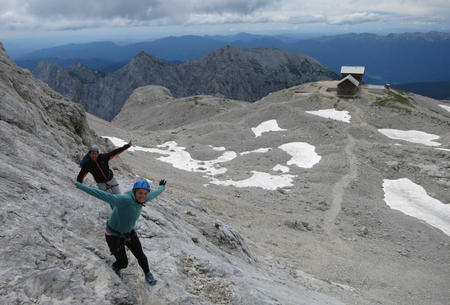 Climbing Triglav from the Planika mountain hut
