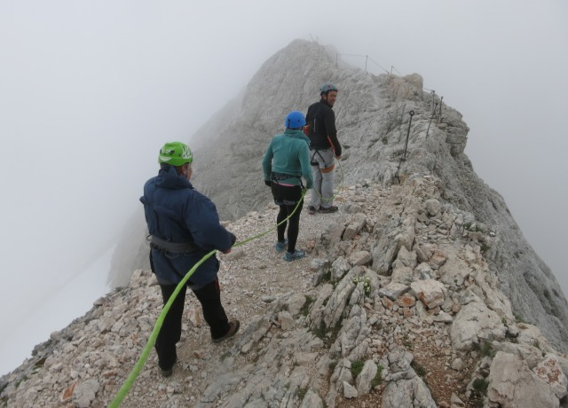 At the top of Mali Triglav