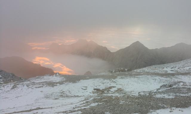 Sunrise as seen from Kredarica
