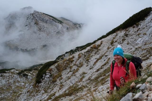The winding trail slowly ascending over Kalvarija.