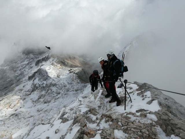 Ascending to Triglav.