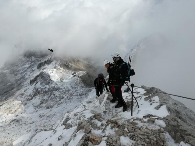 Ascending to Triglav.