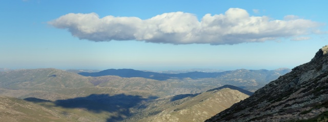 View from just below the peak of Punta La Marmora, the highest summit of Sardinia