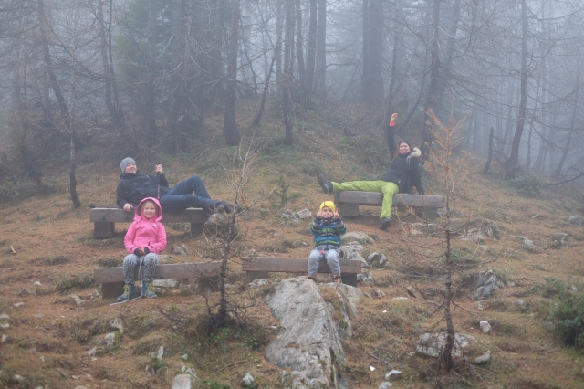 Family having fun in the mountains. Photo by: Exploring Slovenia