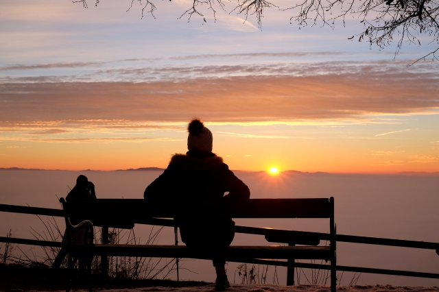 Enjoying the view from Šmarna Gora for sunrise