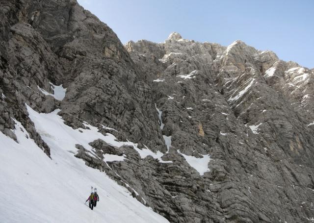 Climbing Triglav North Face, the Slovenska route (Slovenska smer)