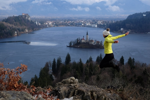 Panoramic point in the Bled Lake, Slovenia
