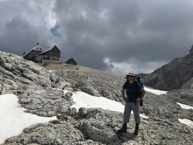 A hiker on Kredarica