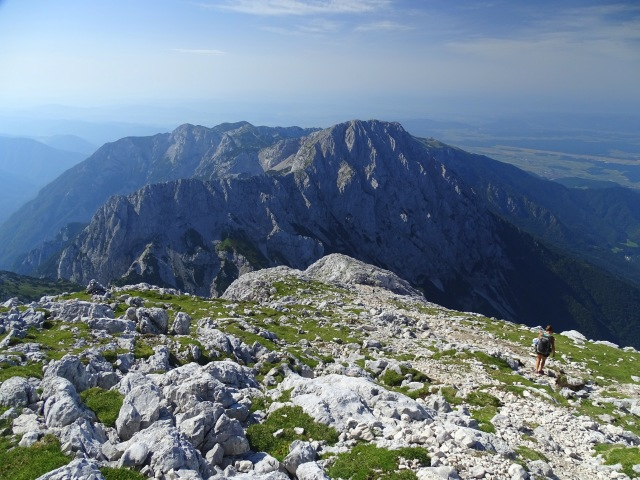 Hiking in the Kamnik-Savinja Alps towards Grintovec