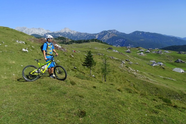 Mountain biking near Ljubljana, Velika Planina