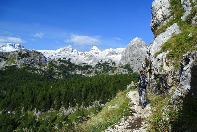 On the trail to Vodnik hut, Triglav National Park