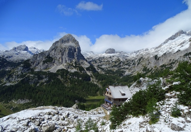 Vodnik Hut in Triglav National Park, Slovenia