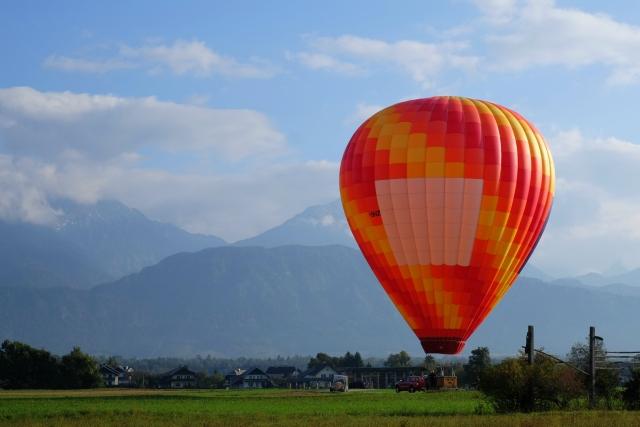 Hot air balloon in Slovenia