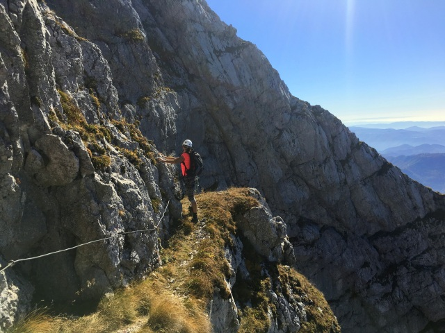 Tackle the Silvo Koren Route with via ferrata gear