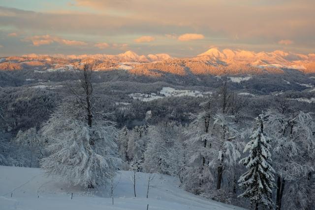 Sunset above Vrhnika, Slovenia