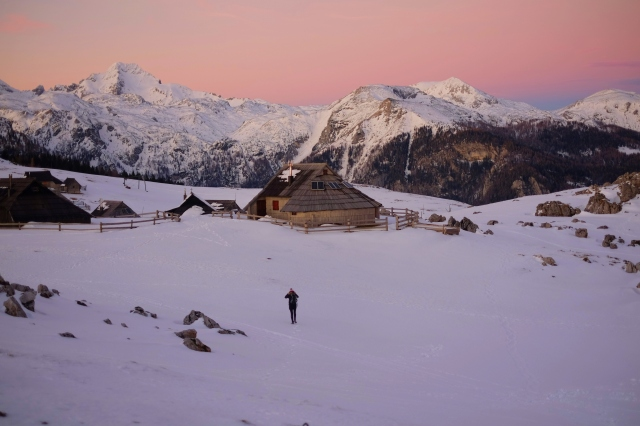 Velika Planina for sunset, Central Slovenia