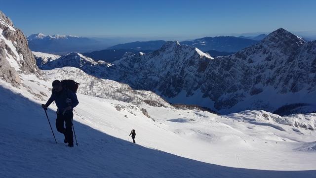 Hiking to the Kredarica Hut in winter