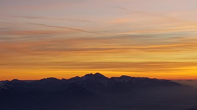 Julian Alps for sunset from Triglav, Slovenia