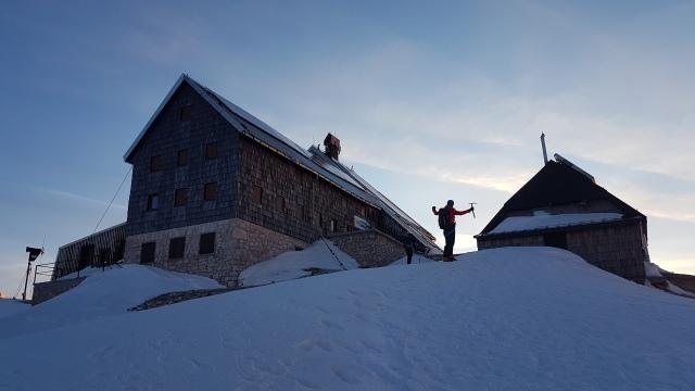The Kredarica Hut in winter