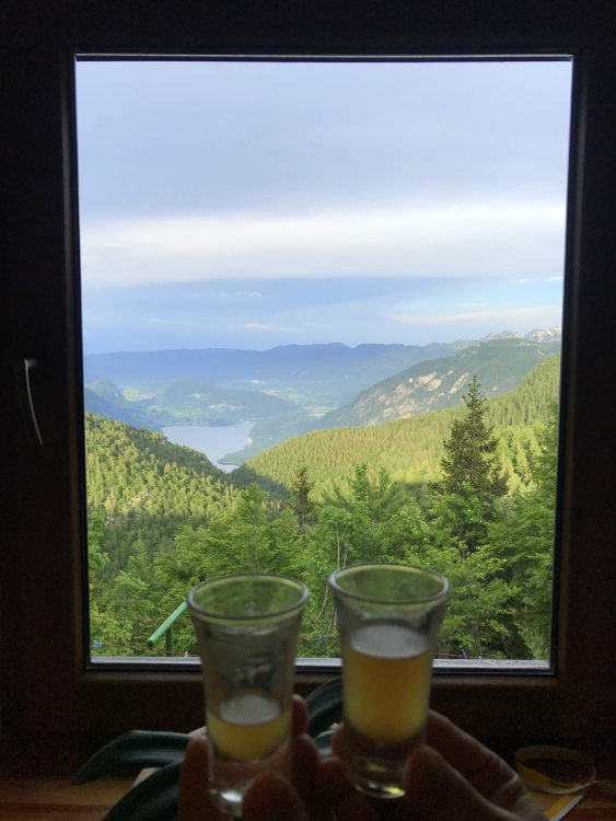 Overlooking Lake Bohinj from the Komna Hut
