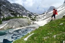 Triglav Lakes, the Big Lake, Julian Alps, Triglav, Slovenia