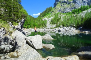 The Black Lake, Triglav Lakes, Julian Alps, Slovenia, above Lake Bohinj