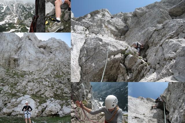 Alpine climbing in Lučki Dedec, the Kamnik-Savinja Alps