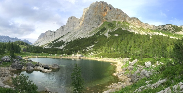 The Double Lake and Mt. Mala Tičarica, Julian Alps, Slovenia