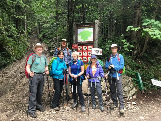 Our Julian Alps hiking group