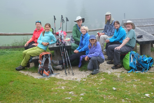 Group hike in the Julian Alps