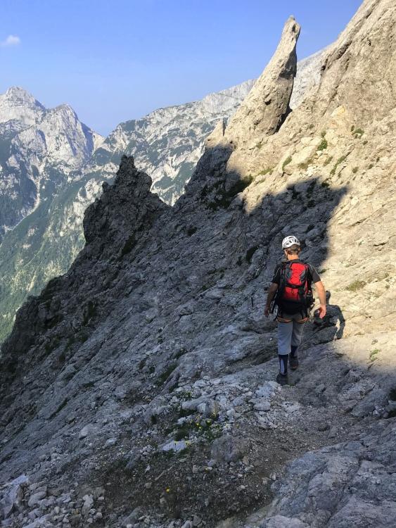 Climbing Mt. Turska Gora, Kamnik-Savinja Alps, Slovenia