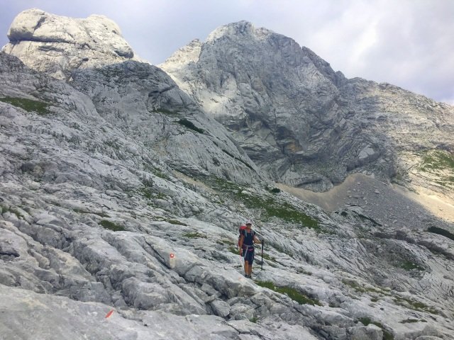 Hiking in the Kamnik-Savinja Alps, Ojstrica, Slovenia