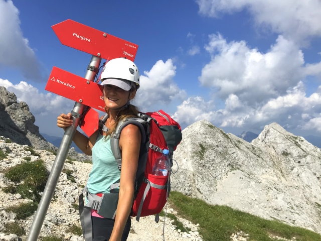 Almost at the top of Mt. Planjava, Kamnik-Savinja Alps, Slovenia