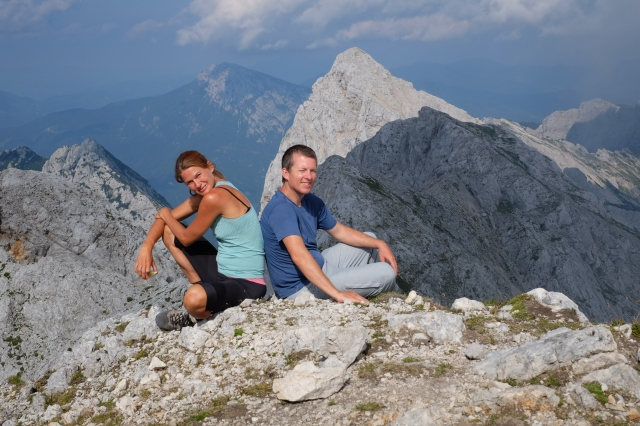 At the top of Mt. Planjava, Kamnik-Savinja Alps, Slovenia