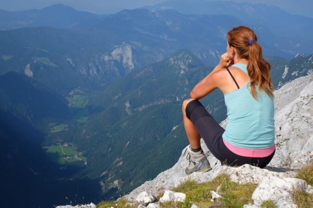 At the top of Mt. Planjava, Kamnik-Savinja Alps, Slovenia