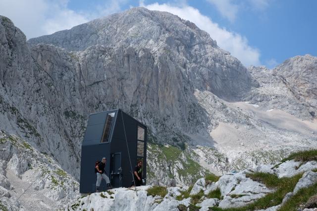 The bivouac beneath Mt. Grintovec, the highest mountain of the Kamnik-Savinja Alps, Slovenia
