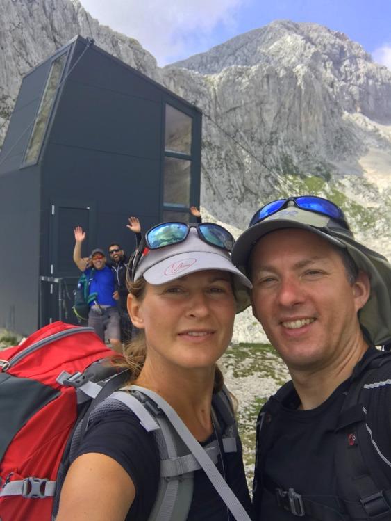 The bivouac beneath Mt. Grintovec, the highest mountain of the Kamnik-Savinja Alps