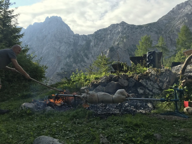Mountain hut idyll in Slovenia