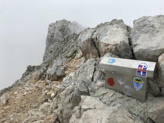 At the top of Mt. Koroška Rinka, Kamnik-Savinja Alps, Slovenia